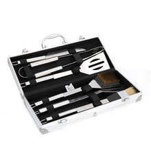 Stainless Steel BBQ Grill Tools Set & Accessories -Aluminium Carry Case--Outdoor Cooking Accessories