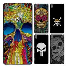 Skull minimal Style Case Cover for Sony Ericsson Xperia X XZ XA XA1 M4 Aqua E4 E5 C4 C5 Z1 Z2 Z3 Z4 Z5