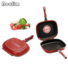 Wholesale Happycall Happy Call 30cm Big Size Fry Pan Non-stick Fryer Pan Double Side Grill Fry Pan