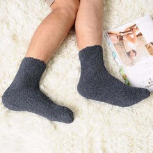 Buy Extremely Cozy Cashmere Socks Men Women Winter Warm Sleep Bed Floor Home Fluffy for $1.26 in AliExpress store
