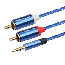 RCA 3.5mm jack Cable 2 RCA Male 3.5 mm Male Audio Cable Aux Cable Edifer Home Theater DVD Headphone PC