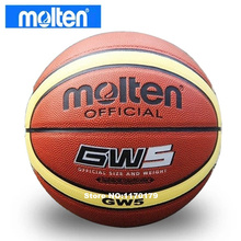 Wholesale Molten Brand GW5 Basketball Ball PU Leather A+++ Quality Basketball Official Size 5&Weight Basketball Free Needle&Net