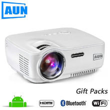 AUN AM01s LED Projector 1080P Android Mini Video Projetor Full HD HDTV Beamer Wifi Bluetooth Home 1400Lumens Game Business