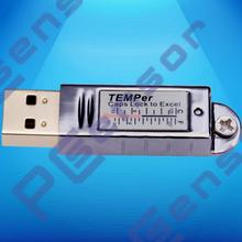 USB thermometer waterproof indoor -55~125c temperature monitoring alarming for room warehouse machine, excel txt logging