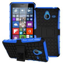 For Nokia Microsoft Lumia 640 XL Shockproof Phone Cases Heavy Duty Rugged Silicone+PC Combo Stand Holder Armor Cover