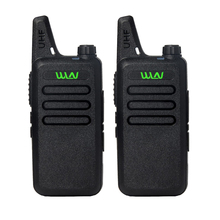 2pcs Portable Radio WLN KD-C1 Mini Wiress Walkie Talkie UHF Handheld Two Way Radio station Communicator Transceiver ham radio