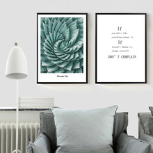 Aloe Vera Plant Art Canvas Poster and Prints Inspirational Quote Wall Picture Modern Minimalist Home Decor(China)