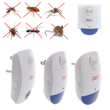 LED Light Mice Mosquito Reject Ultrasonic Electronic Pest Repeller EU US UK Plug(China)