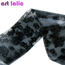 1PC 3D Black Lace Nail Art Foil Stickers Flower Nail Decals Tips Transfer Manicure Tool Popular Top Quality(China)