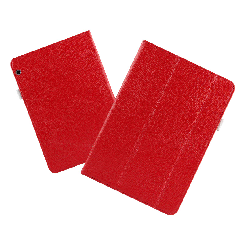 High quality Folio Genuine leather Case Cover For Huawei MediaPad T3 10 AGS-L09 AGS-L03 9.6 inch Tablet + Film + Stylus<br>