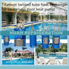 Free shipping ! 11.3KW condensing unit heat exchanger, titanium swimming pool condenser