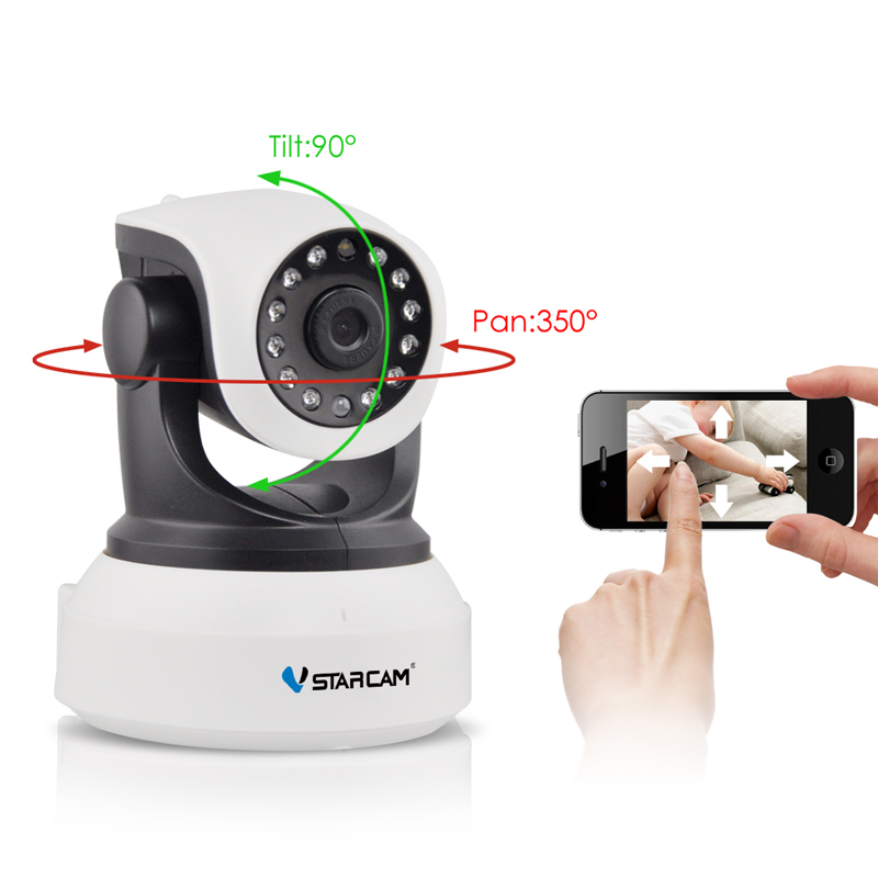 Vstarcam C7824WIP Free Shipping Onvif 2.0 720P IP Camera Wireless Wifi CCTV Camera HD Indoor Pan/Tilt IR CUT Night Vision<br>