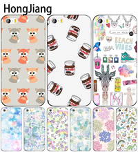 HongJiang cute unicorn dinosaur rainbow cell phone Cover case for iphone 6 4 4s 5 5s SE 5c 6 6s 7 8 plus case for iphone 7 X(China)