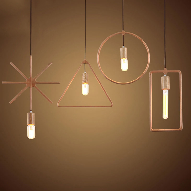Nordic Art Decorative Solid Wood E27 Pendant Lamps Light Fixtures 110V 220V for decor Hanging Lighting Suspension Luminaire<br><br>Aliexpress