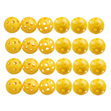 2016 New Product 24Pcs/Lot  Plastic Whiffle Airflow Hollow Golf Practice Training Sports Balls