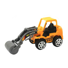 1PC Plastic Toy Vehicles Bulldozer Truck Engineering Car Building Blocks Brick Toy Model Figure Boy Gifts F20(China)