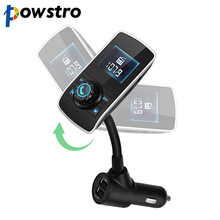 Powstro Double USB Charger 3.1A fast charger for Car MP3 Player Bluetooth FM Transmitter Wireless Car Kit HandsFree LCD Displa