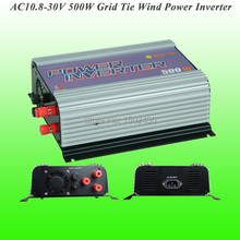 2017 Hot Selling 500W Three Phase AC10.8V~30V Input, AC 115V/230V Output SUN-500G-WAL Grid Tie Wind Power Inverter