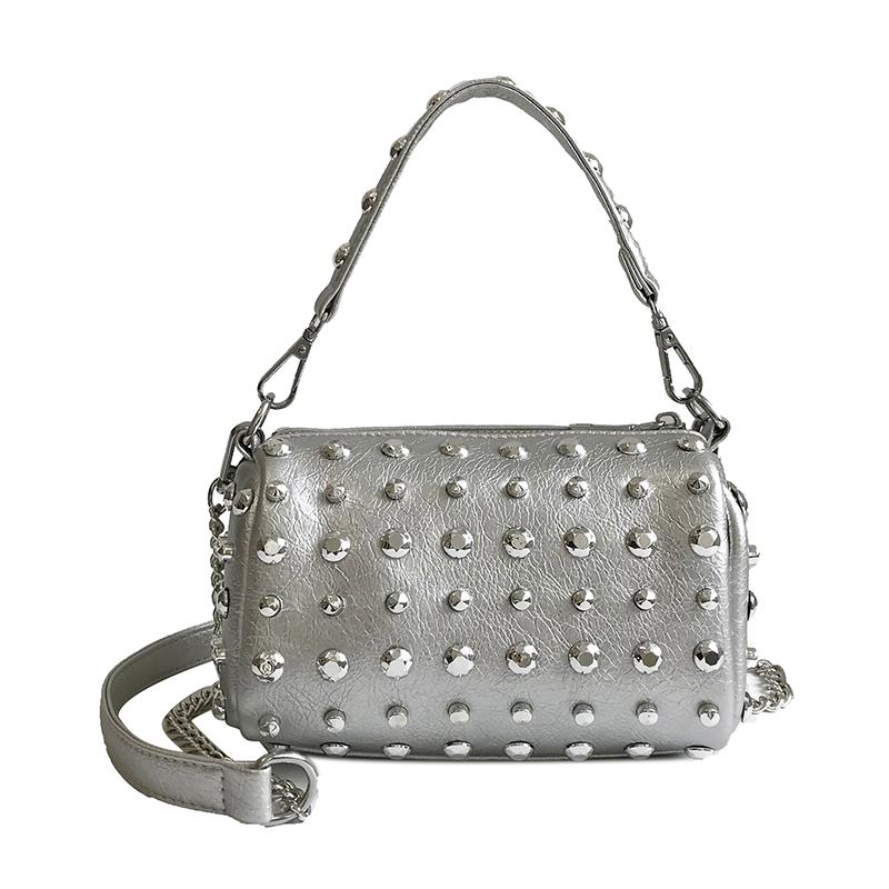 Women's Handbags Boston Bags Ladies Tassel Button Messenger Bags Leather Shoulder Bags Designer Bucket Bag Clutch Metal Pointed 40 Online shopping Bangladesh