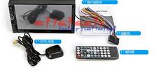 by dhl or ems 10pcs  2Din HD 7 inch Touch Screen Car Monitor GPS Stereo Car auto Radio 8001 MP5 Rear View Camra Bluetooth hot