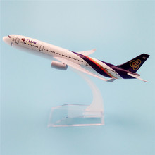 16cm Metal Aircraft Plane Model Thailand Air Thai Airlines Airbus 330 A330 Airways Airplane Model w Stand Crafts Gift