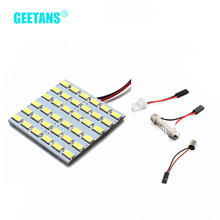 Buy T10 LED Panel Super White Car Auto Interior Reading Map Lamp Bulb Light Dome Festoon BA9S 3 Adapter 12V F for $1.02 in AliExpress store
