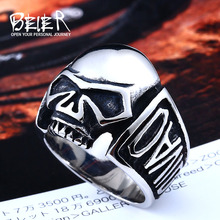 Buy Beier new store 316L Stainless Steel ring high skull punk Biker ring men fashion jewelry BR8-383 for $3.09 in AliExpress store