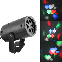 AC110V-240V Sparkling LED Snowflake& Heart Stage Laser Projector Light Lamp Christmas Wedding Party Festival Decoration Light(China)