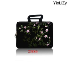 flower 9.7 11.6 13.3 14.1 15 15.4 15.6 17 17.3 inch Laptop briefcase sleeve Notebook Bag Case for HP ASUS Dell Lenovo SBP-23886(China)