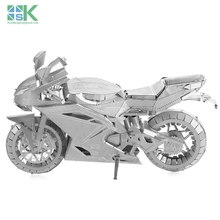 2016 New SK Same style ICONX METAL EARTH MOTORCYCLE II 3D Metal model Etching puzzle Assembling DIY originality GIFT Challenge