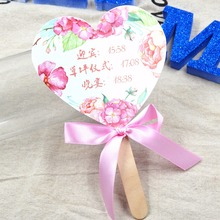 Personalized Ladies Paper Fan  Hand Fans Outdoor Dancing Wedding Party Favor Handmade Fan with Ribbon Decoration