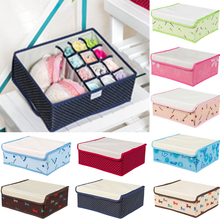 12 Cell Nonwoven Folding Underwear Organizer Closet Drawer Storage Box For Socks Ties Bra Lingerie Divider container