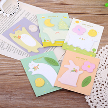 Cartoon Paper Sticker Animal Memo Pads Sticky Notes Kawaii Stationery Papelaria Material Escolar School Office Supplies Planner