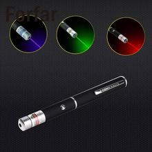 Fofar Military Red/Green/Blue Laser Pointer 5mW Powerful 10M-1000M Laser Pen Professional Powerful Laser Pointer Outdoor Tools(China)