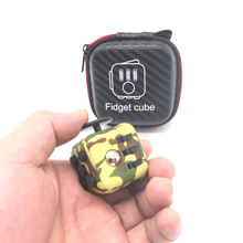 Original Fidget Cube Special Camouflage Color with Zipper Case Hand Spinner Clickable Ball Puzzles Magic Toys for Kids
