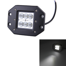 1PC 3x3 Inch 18W Cree Led work Light Flood Beam 6CREE Leds Chips IP67 for Truck atv 4x4 offroad wagon Driving Fog 4WD Boat Lamp