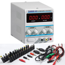 KXN-305D High-power Switching DC Power Supply, 0-30V Voltage Output,0-5A Current Output + 39PCS Power Conversion head