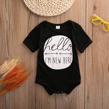 Baby Boy Girl Clothes Short Sleeve Hello Print 2015 Summer Baby Romper Newborn Next Jumpsuits & Rompers Baby Product