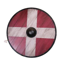 Medieval wooden round shield living room bar restaurant wall decoration European creative retro wall decoration new(China)