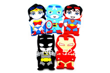 For ipod touch 6 3D Super Hero Batman Wonder Woman Iron Man Silicon Back Cover Phone Case For Apple iPod Touch 5 5G