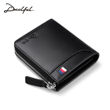 Deelfel New Fashion Small Women Wallets Female Genuine Leather Womens Wallet Zipper Design With Coin Purse Pockets Mini Walet(China)