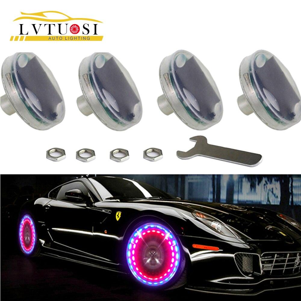 Car & Truck Parts 4x 12 All-Color Car Wheel Rim LED Light Kit RGB Flash Neon Strip Rim Tire Light