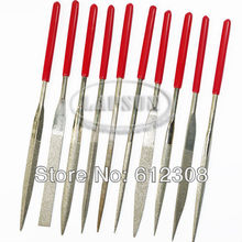 10pcs Diamond Coating Needle File Files Set 5mm * 180mm for Jewelers Tool Steel Stone Glass Metal 5*180*70mm freeshipping