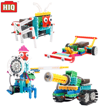 Tank F1 Racing 4in1 Plastic Model DIY Electric Remote Control Robot Blocks Educational toys for Children(China)