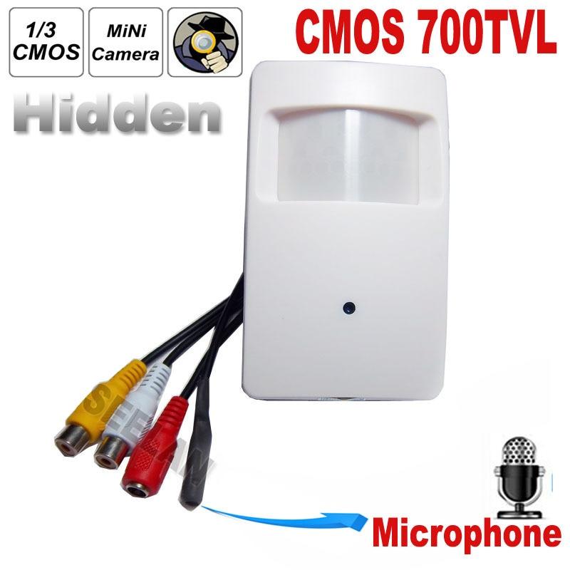 700TVL CCTV security Camera CMOS Color 960H Motion Detector PIR STYLE Indoor CCTV Mini PIR Style Surveillance Camera microphone<br><br>Aliexpress
