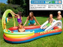 Summer Water Sports Entertainment Amusement Park Inflatable Outdoor Playground Baby Carton Animal Slide Pleasure Pool Kid Gift(China)