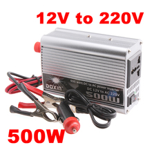 500W Car Inverter Portable DC 12V to AC 220V Super Power Inverter Converter Charger for Car Truck Boat