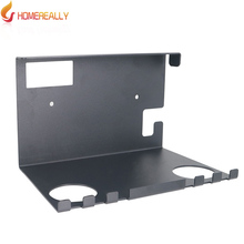 HOMEREALLY TV Box Iron Wall Mount Stand Holder Hanging Bracket For Nintend Switch NS Console Joy-con For Switch Pro Controller