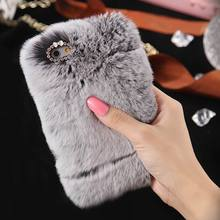 Case For iPhone Samsung Fashion Winter Warm Fluffy hair Fuzzy phone case For Iphone 5 SE 6 6S 7Plus Hair Soft Back Case Plush(China)