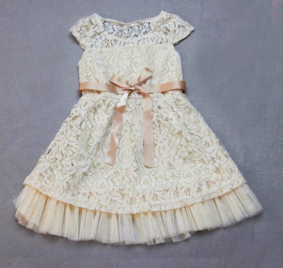 2017 Baby Girls Flower Wedding Party Dresses Toddler Infant Princess  Elegant Costume Roupas Fille Childrens Clothes HB3031<br><br>Aliexpress